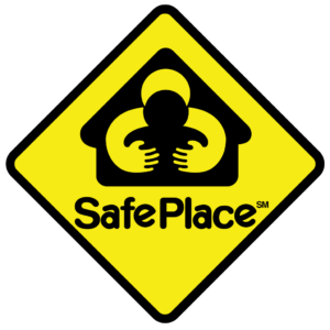 Old Safe Space logo with child being grabbed by adult